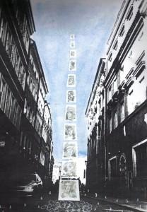 instalacja po nici światła - projekt 2 malgorzata grabowska kozera po nici swiatla powstanie warszawskie 60 rocznica