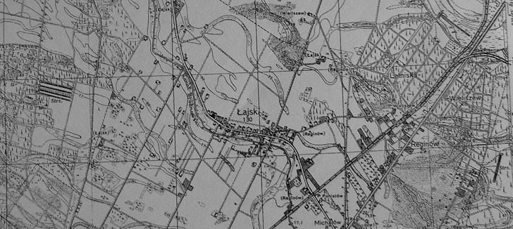 17. międzywojenna mapa - po lewej strzelnica obok Łajsk, po prawej - na Nowopolu net