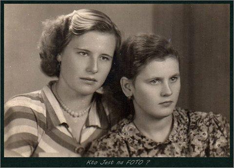 To zdjęcie nadesłała pani Beata Sodoś, która pisze: Moja mama (bluzka wpaski) to Danuta Sodoś zdomu Kolasińska. Rocznik 1933. Kim jest druga pani?